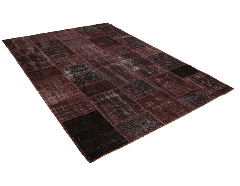 Bloomsbury Market Kayla Patchwork Hand Knotted Wool Red Black Area Rug Wayfair