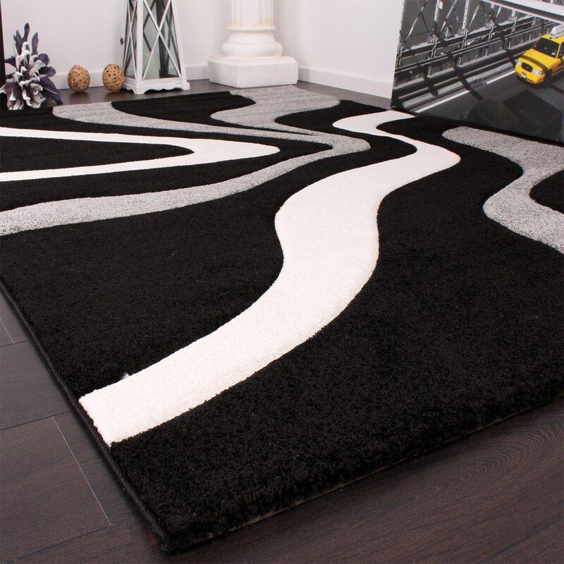 Zipcode Design Kynlee Black/Grey/White Rug & Reviews ...