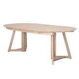 Herakleitos Extendable Solid Oak Dining Table by Gracie Oaks
