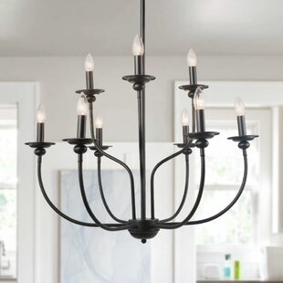 Shirely 2-Tier Traditional 9-Light Candle Style Chandelier