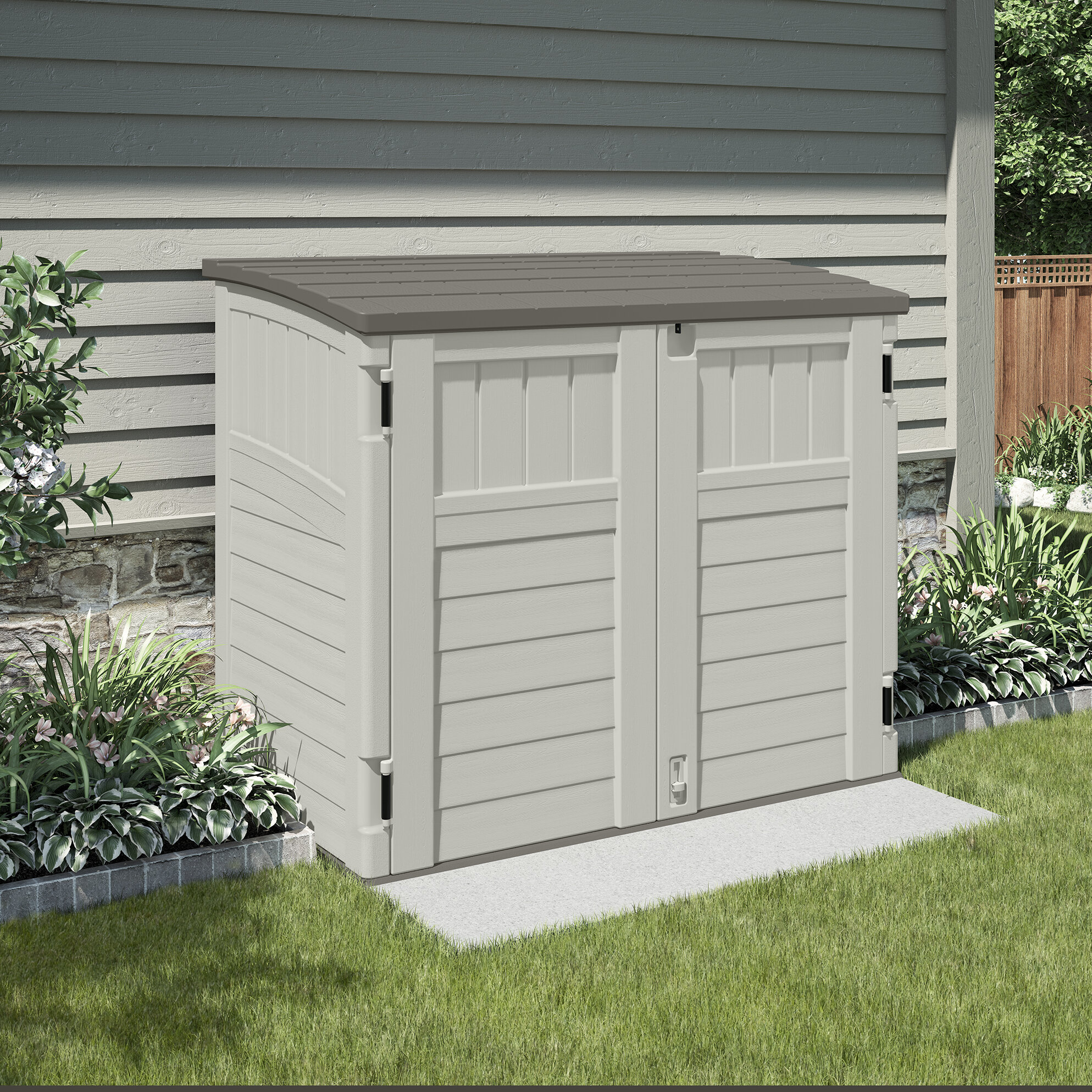 site build best storage doors suncast sheds up on your roll with for