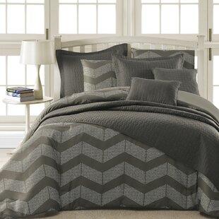 Ivy Bronx Rozella Chevron 5 Piece Comforter Set