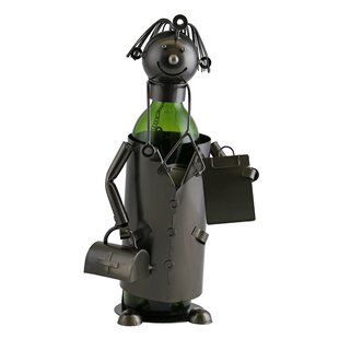 Wine Bodies Foster Happy Doctor with Suitcase and Patient Clipboard 1 Bottle Tabletop Wine Bottle Holder