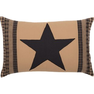 Rudd Decor Check Star Cotton Lumbar Pillow