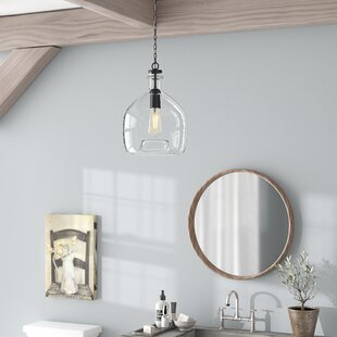 Compare prices Ganley 1-Light Geometric Pendant By Laurel Foundry Modern Farmhouse