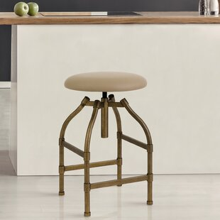 Engelman Adjustable Height Swivel Bar Stool by 17 Stories