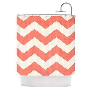 Vintage Coral Single Shower Curtain