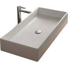 teorema rectangular vessel bathroom sink - Bathroom Vessel Sinks