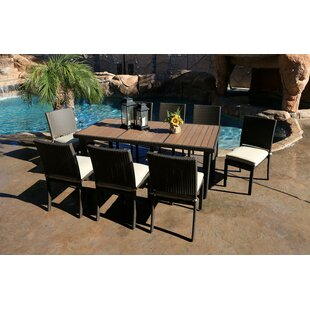 World Wide Wicker Tampa 9 Piece Dining Set