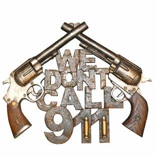 Rustic Metal Crossing Guns Garage Man Cave Sign Pistols Star Pub Home Wall Decor