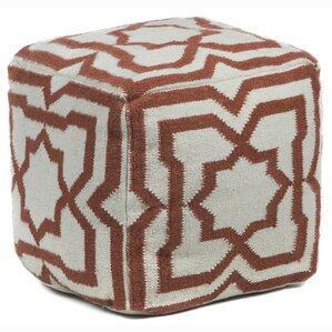 Muriel Textured Contemporary Ottoman by Bungalow Rose