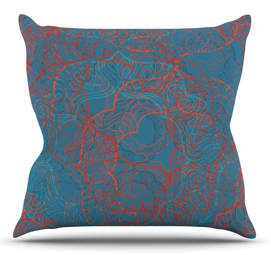 Wayfair Teal Throw Pillows : East Urban Home Mandala Teal by Patternmuse Throw Pillow Wayfair