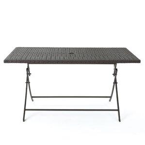 Belynda Outdoor Wicker Foldable Dining Table by Orren Ellis