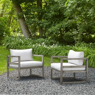 Real Flame Monaco Deep Chair Seating Group with Cushion (Set of 2)