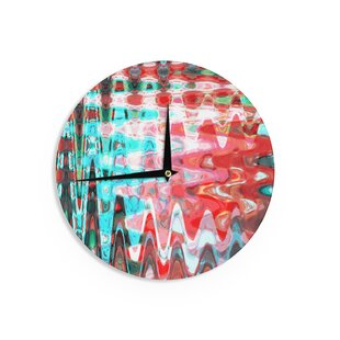 Suzanne Carter 'Aqua Wave' 12 Wall Clock by East Urban Home
