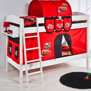 Disney Cars European Single Bunk Bed with Bottom Bunk Curtain by Cars
