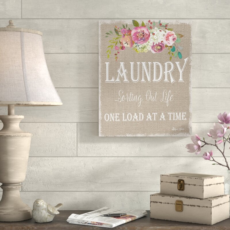 'Floral Laundry Sorting Life' Textual Art