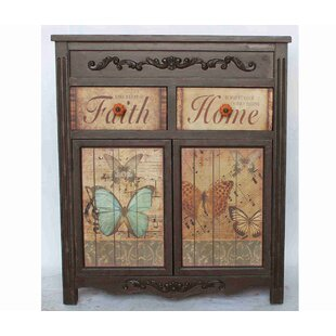 Crown Faith Home Vintage 4 Drawer Accent Chest by August Grove