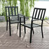Alexan Stacking Patio Dining Chair (Set of 2) by Winston Porter
