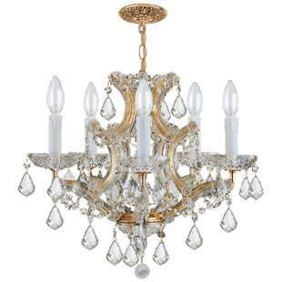 House of Hampton Milan 6-Light Crystal Ch..