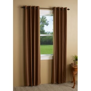 Richmond Solid Blackout Thermal Grommet Single Curtain Panel