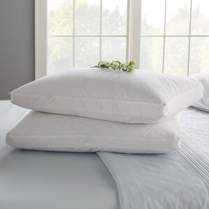 bedroom pillows. Double Quilted Goose Feather Standard Pillow  Set of 2 Bed Pillows You ll Love Wayfair