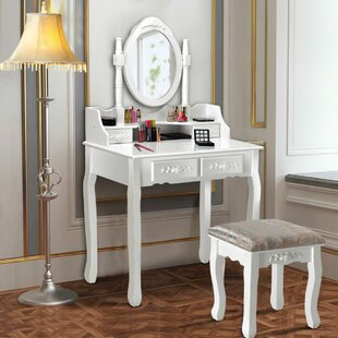 House of Hampton Edna Vanity Set with Mirror