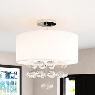 Seaforth 3-Light Semi-Flush Mount by Orren Ellis