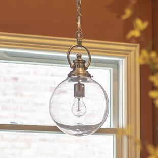 Kaliyah 1-Light Globe Pendant by Breakwater Bay