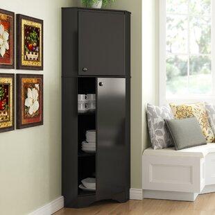 Tall Corner Dish Cabinet Wayfair