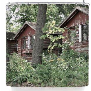 Jennifer Rizzo Rustic Cabins Shower Curtain