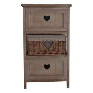The Urban Port 3 Drawer Nightstand