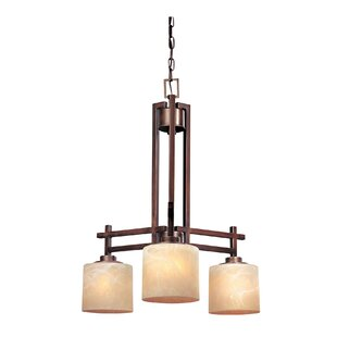 Loon Peak Albee 3-Light Shaded Chandelier