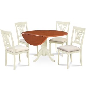 Forthill 5 Piece Round Dining Set by Alcott Hill