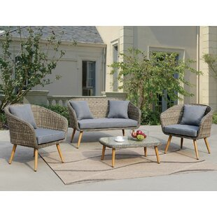 Lilah 4 Piece Sofa Set with Cushions by Ophelia & Co.