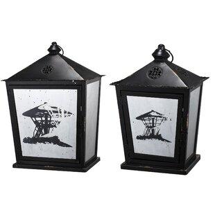 Bloomsbury Market Traditional 2 Piece Lantern Set