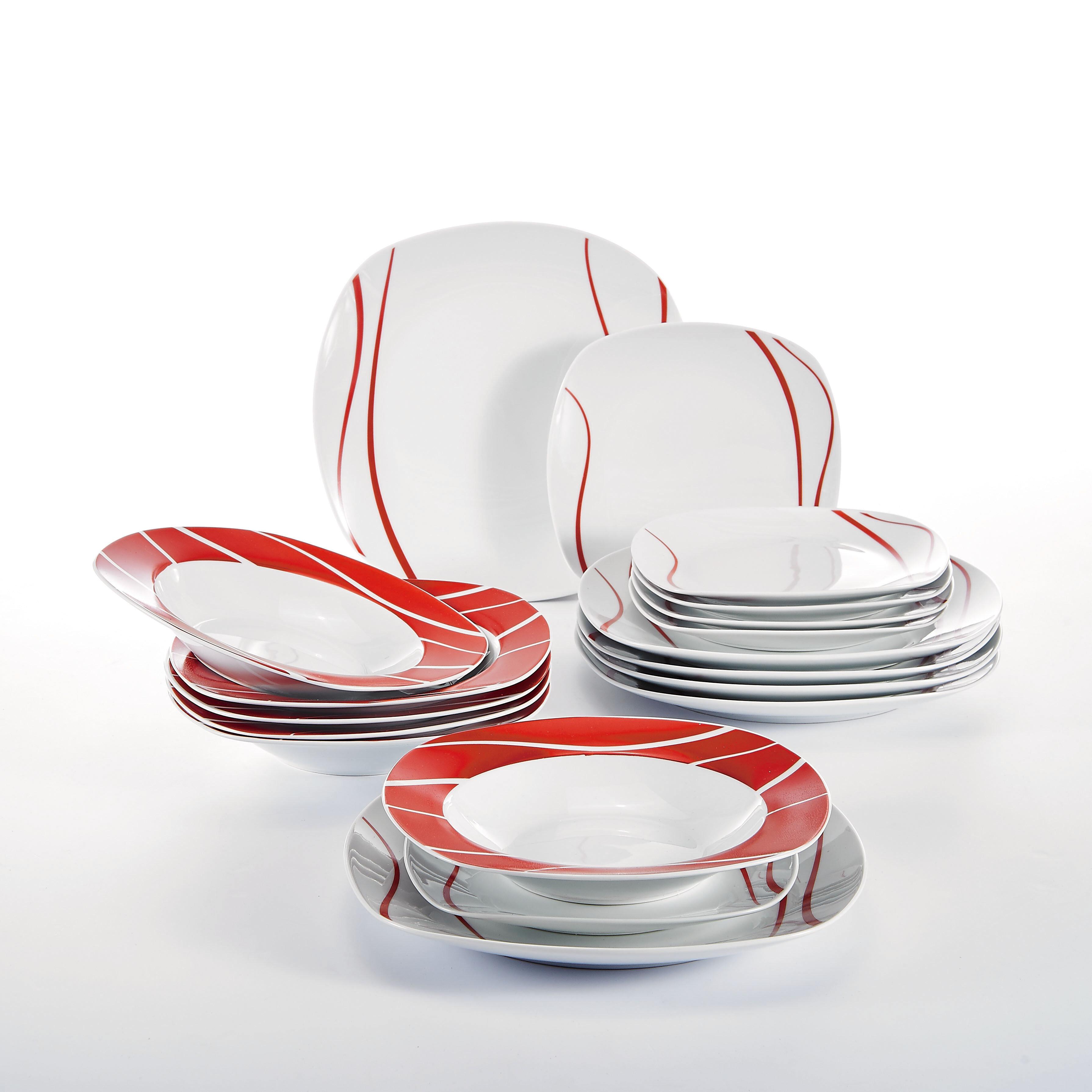 Malacasa Felisa 18 Piece Dinnerware Set Service For 6 Reviews Wayfair