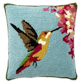 Hummingbird Hooked Indoor/Outdoor Throw Pillow