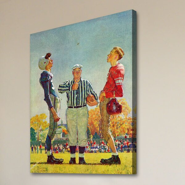 'Coin Toss' by Norman Rockwell Painting Print on Wrapped Canvas