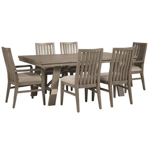 Pingree 7 Piece Extendable Solid Wood Dining Set