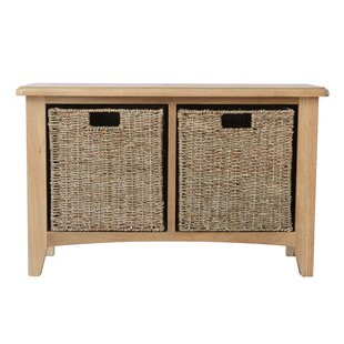 Captiva Wood Storage Bench By August Grove