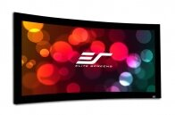 Lunette Series White Fixed Frame Projection Screen by Elite Screens