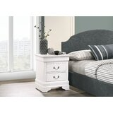 Louis Phillipe 2 Drawer Nightstand by Bolt Furniture