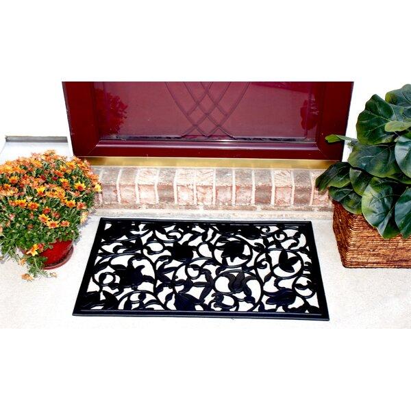 Envelor Home Tulips Wrought Iron Rubber Doormat | Wayfair