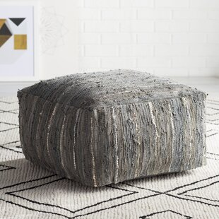 Best Reviews Bolin Leather Pouf ByUnion Rustic