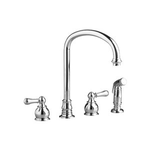 Hampton Double Handle Kitchen Faucet with Side Spray