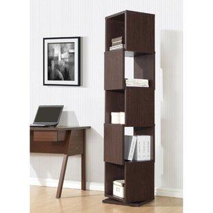 Baxton Studio Ogden 5 Level Rotating Standard Bookcase