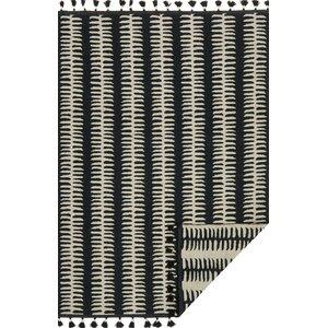 Kahelo Hand-Woven Black/Gray Area Rug