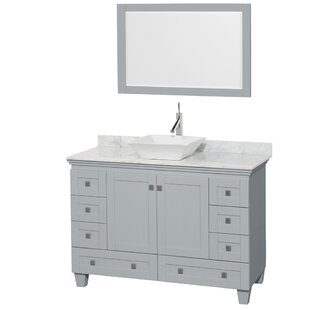 Acclaim 48 Single Oyster Gray Bathroom Vanity Set with Mirror by Wyndham Collection
