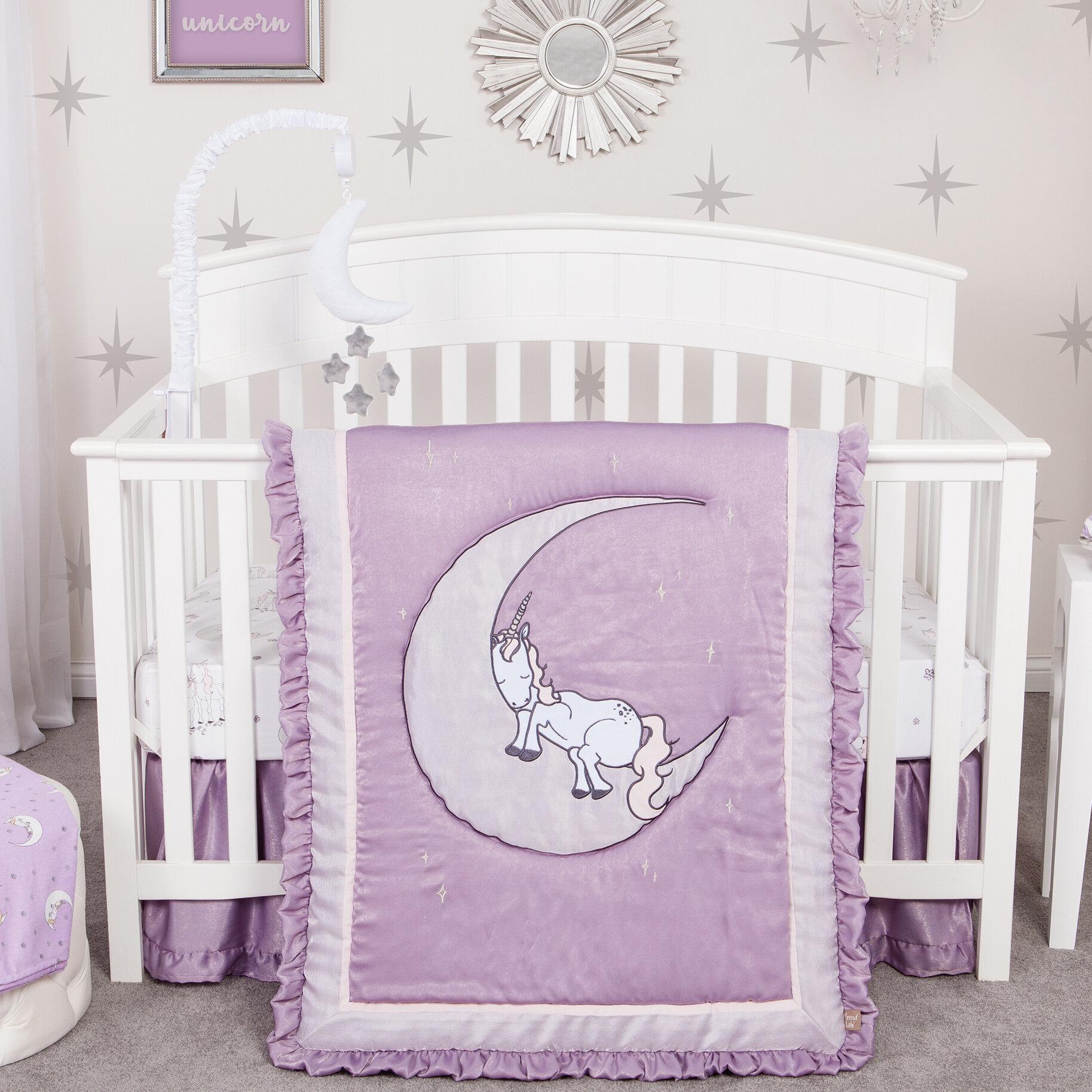 Carone Unicorn 3 Piece Crib Bedding Set